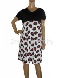 N3223 hitam depan dress menyusui  large
