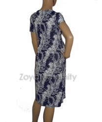 large D132 biru belakang dress hamil