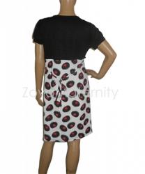 large N3223 hitam belakang dress menyusui