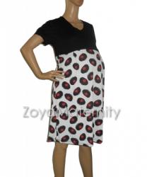 large N3223 hitam samping dress menyusui