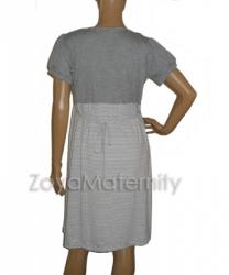 large N3225 abu putih belakang dress menyusui