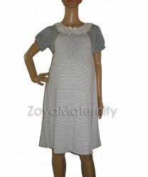 large N3225 abu putih depan dress menyusui
