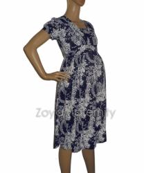 D132 biru sampingdepan dress hamil  large